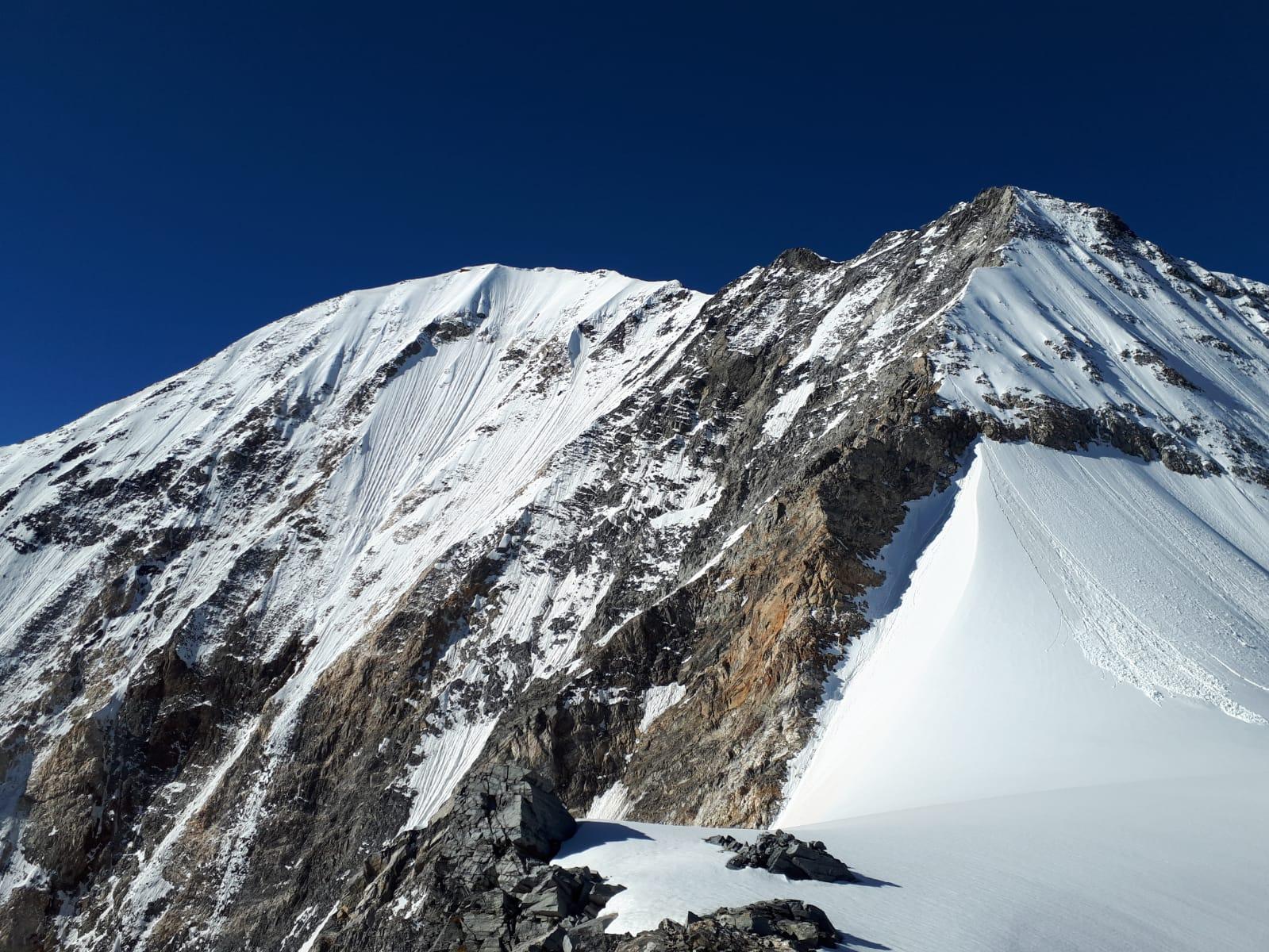 La seconda parte e, in fondo, la cima del Gran Zebrù